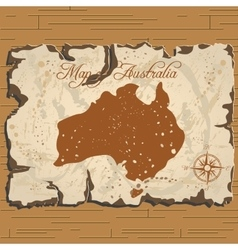old parchament Map of Australia vector image