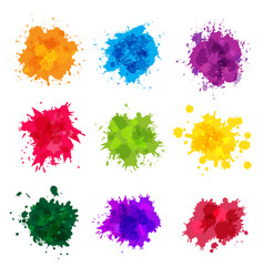 paint splashes colored backdrop abstract splatter vector image