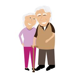 pair of grandparents vector image