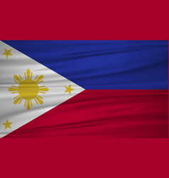 philippines flag flag of philippines blowig in vector image