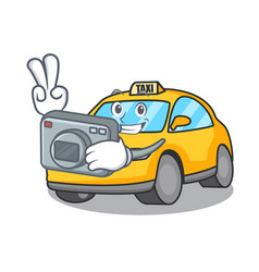 Photographer taxi character mascot style vector