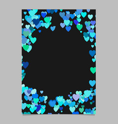random heart page border background design - love vector image