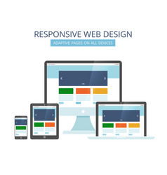 responsive web design minimalist pages layout vector image