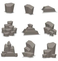 Rock set object art vector image