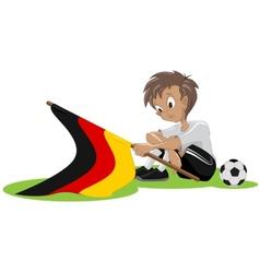 Sad germany soccer fan vector