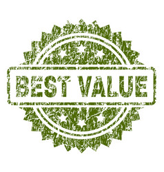 Scratched textured best value stamp seal vector
