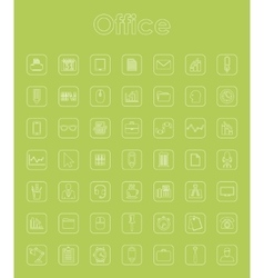 Set of office simple icons vector image