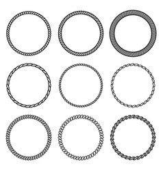 set round rope frame collection vector image