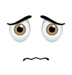 Sick emoticon sign vector image