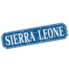 Sierra Leone blue square grunge retro style sign vector