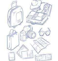 Sketch of Travel Object Symbol vector image