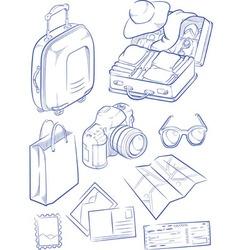 sketch travel object symbol vector image