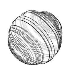 Sphere of spirals outline vector