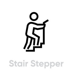 Stair stepper sport icon vector