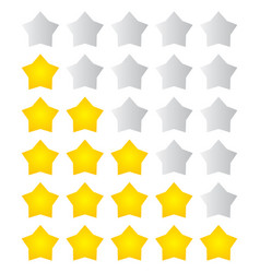 Star rating fat vector