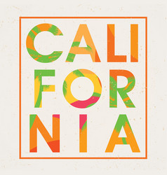 Stylish california design poster vector