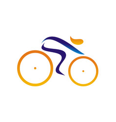 stylized bike race vector image