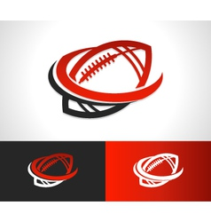 Swoosh Football Logo Icon vector