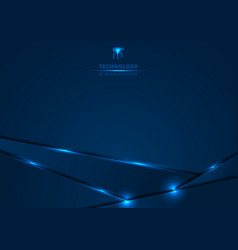 template metallic blue and shine lighting frame vector image