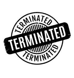 Terminated rubber stamp vector