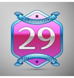 Twenty nineyears anniversary celebration silver vector