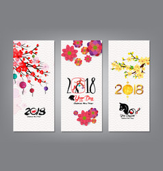 Vertical hand drawn banners set with chinese new vector