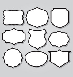 Vintage shield armor frame icon logo mascot set 4 vector