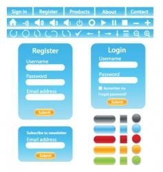 Web site design elements vector