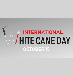 white cane day concept banner realistic style vector image