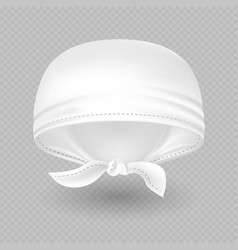white realistic head bandana isolated on vector image