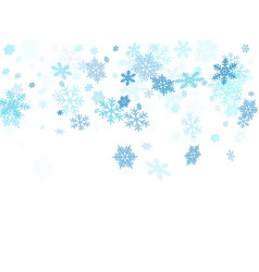 Winter snowflakes border cool background vector