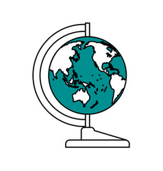 World map teach accessory vector