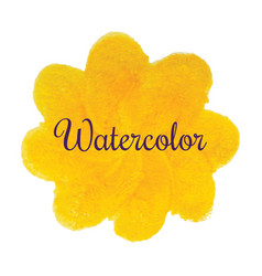 Yellow flower watercolor hand drawn texture vector