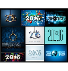 2016 Set of Happy New Year Background for your vector image