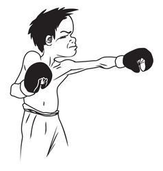 boxer4 resize vector image vector image