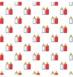 mustard ketchup bottle pattern seamless vector image vector image