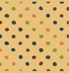 polka dots seamless pattern colorfu vector image