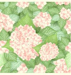 seamless hydrangea flower pattern vector image