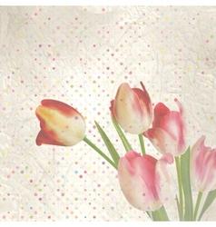 Vintage paper flowers template EPS 10 vector image