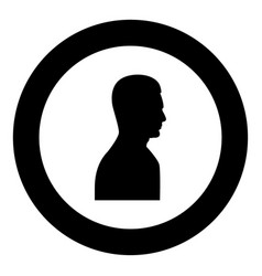 profile side view portrait black icon in circle vector image vector image