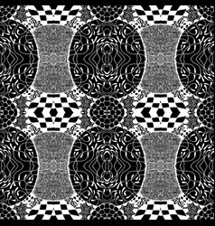 seamless tile with a black and white pattern vector image vector image