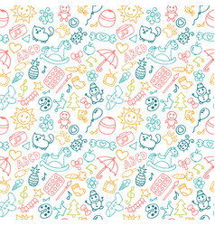 background for little boys and girls in sketch vector image