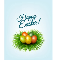 Happy Easter background Colorful easter eggs in vector image vector image