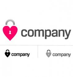 locks of love logo vector image vector image