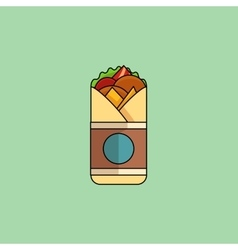 Chicken Roll in minimalist style vector image vector image