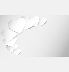 Heart shaped note paper vector