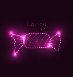neon glowing element vector image