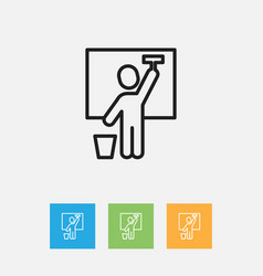 of cleaning symbol on servant vector image