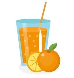 Orange juice orangeade in a glass Fresh vector image