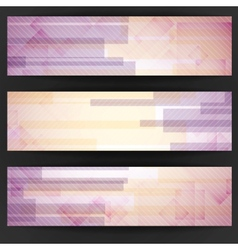 Abstract Pink Rectangle Shapes Banner vector image